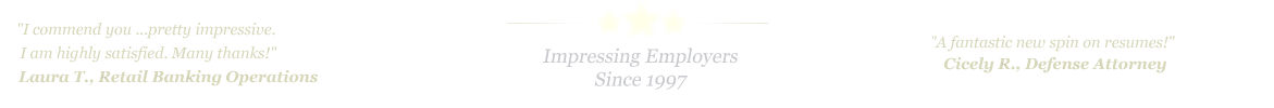 Abilene Resume Service... IMPRESSING EMPLOYERS SINCE 1997!